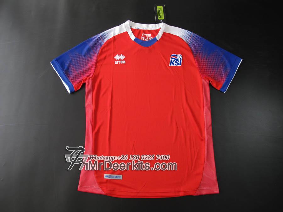 wholesale dealer ebb4b a60da 2018 World Cup Iceland red Goalkeeper jersey - $17.00 ...